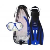 Ocean Pro Adult Bat Mask, Snorkel And Fin Set