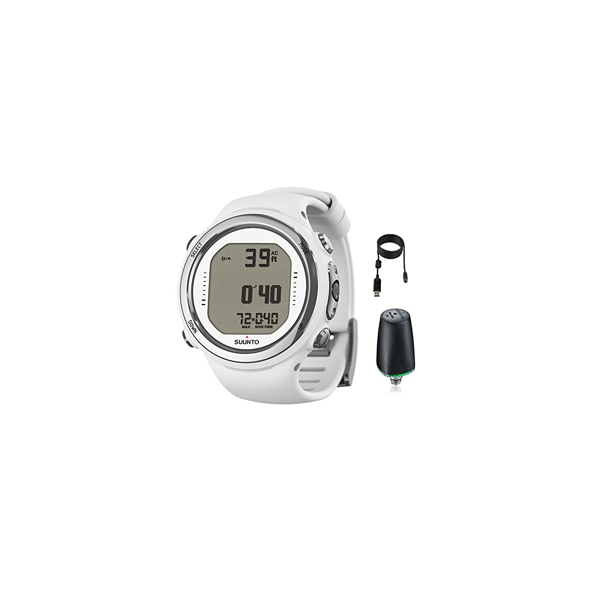 Suunto D4i Novo Watch Dive Computer with Transmitter USB PC Download Kit