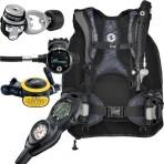 Aqua Lung Travel 9 LBS Scuba Gear Package Zuma BCD Zoop Dive Computer Micron Reg Set Reg Bag