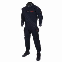 New Hollis FX100 Front Zip BioDry Drysuit (Size 2X-Large Tall) With FREE Ocean Pro 5.0mm NeoClassic Overboots