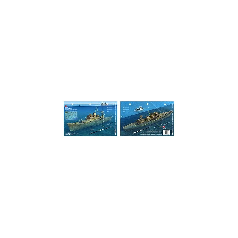 Duane in Key Largo, Florida (8.5 x 5.5 Inches) (21.6 x 15cm) - New Art to Media Underwater Waterproof 3D Dive Site Map
