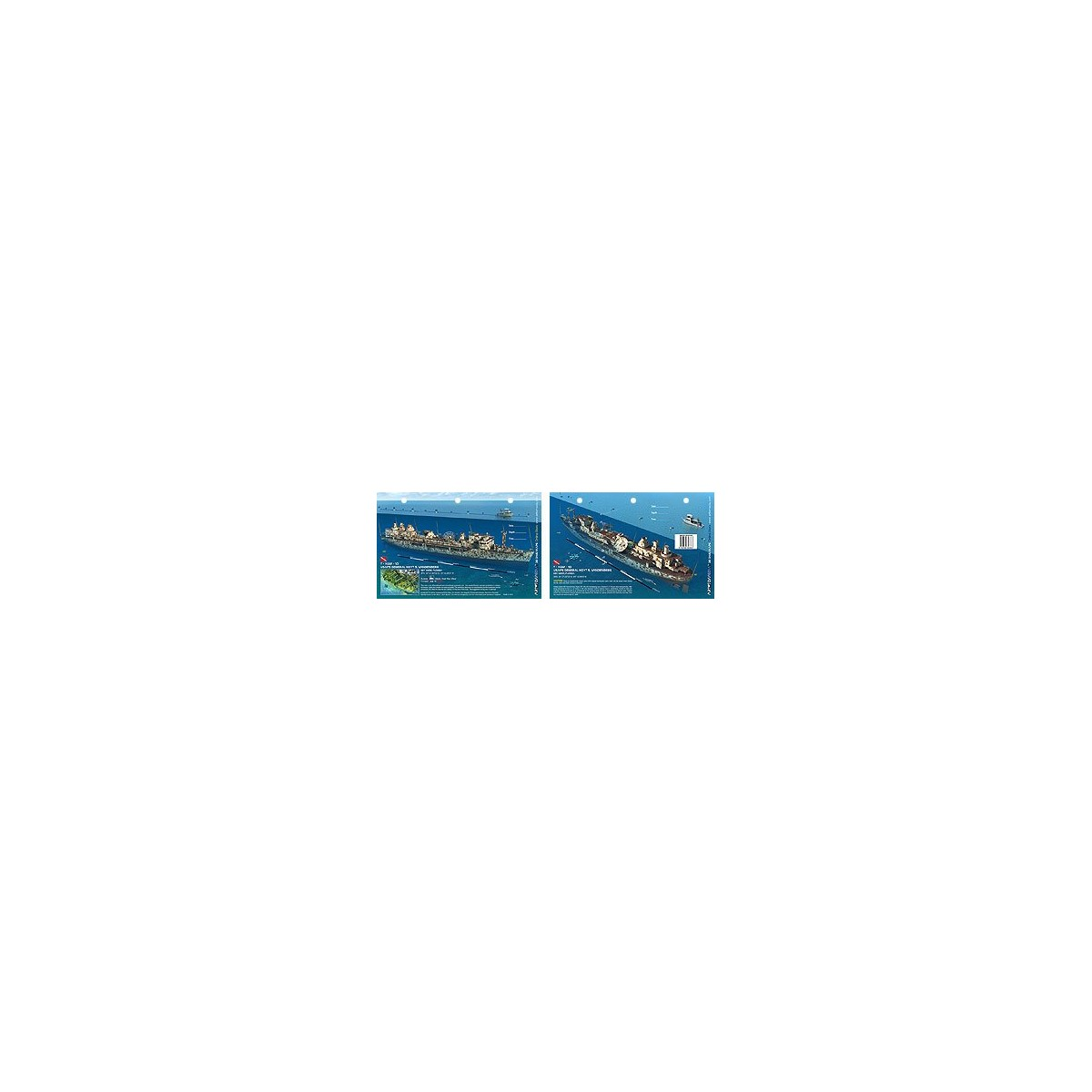 Vandenberg in Key West, Florida (8.5 x 5.5 Inches) (21.6 x 15cm) - New Art to Media Underwater Waterproof 3D Dive Site Map