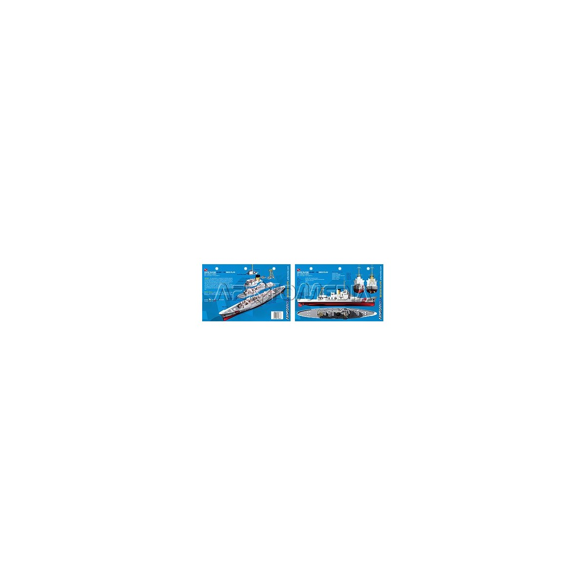 Duane Deck in Key Largo, Florida (8.5 x 5.5 Inches) (21.6 x 15cm) - New Art to Media Underwater Waterproof 3D Dive Site Map