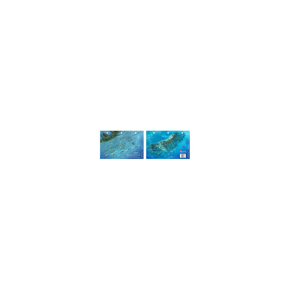 Grecian Rocks in Key Largo, Florida (8.5 x 5.5 Inches) (21.6 x 15cm) - New Art to Media Underwater Waterproof 3D Dive Site Map