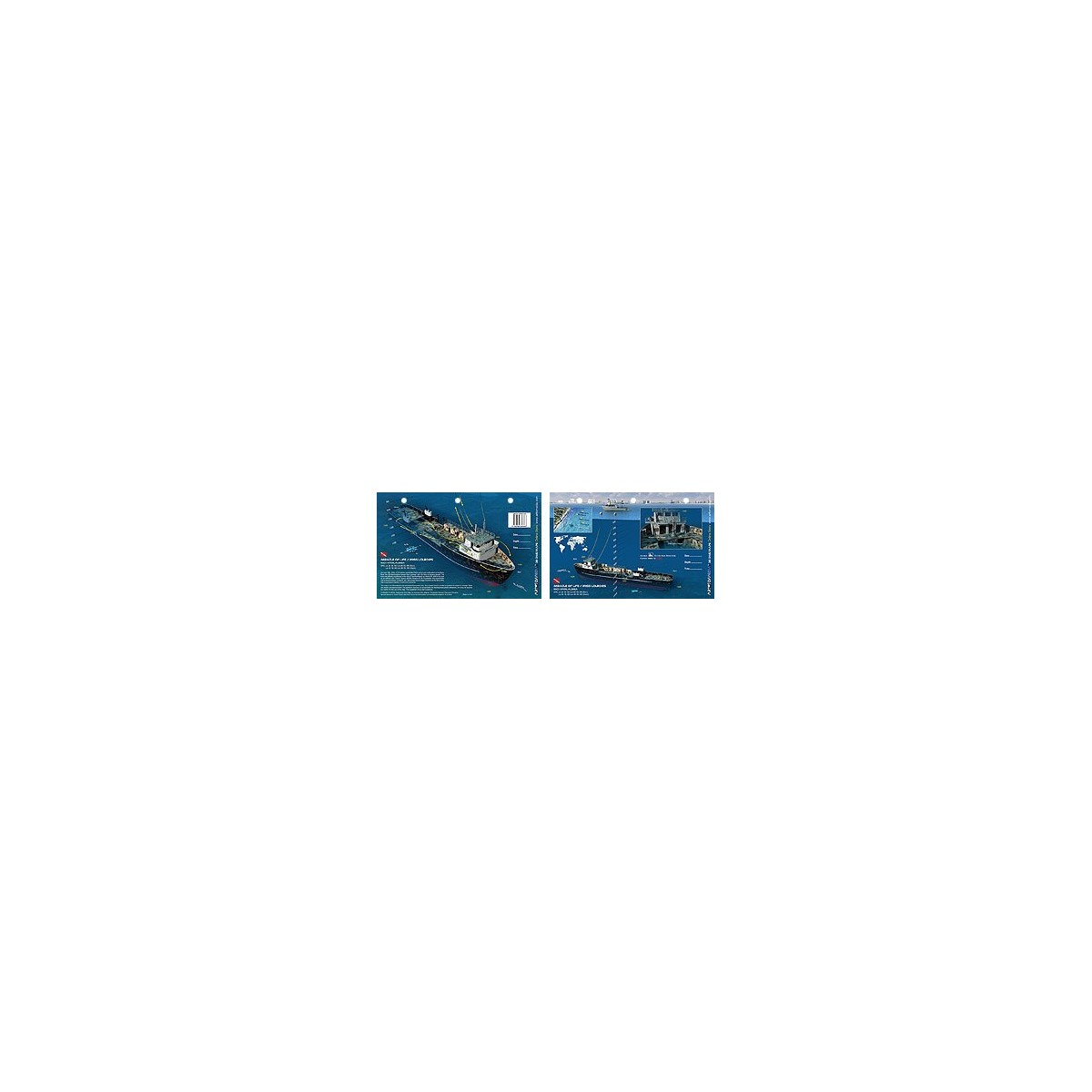Miracle of Life in Fort Lauderdale, Florida (8.5 x 5.5 Inches) - New Art to Media Underwater Waterproof 3D Dive Site Map