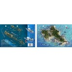 Oahu Map/YO & San Pedro in Oahu, Hawaii (8.5 x 5.5 Inches) (21.6 x 15cm) - New Art to Media Underwater Waterproof 3D Dive Site M