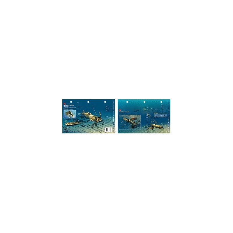 Corsair in Oahu, Hawaii (8.5 x 5.5 Inches) (21.6 x 15cm) - New Art to Media Underwater Waterproof 3D Dive Site Map