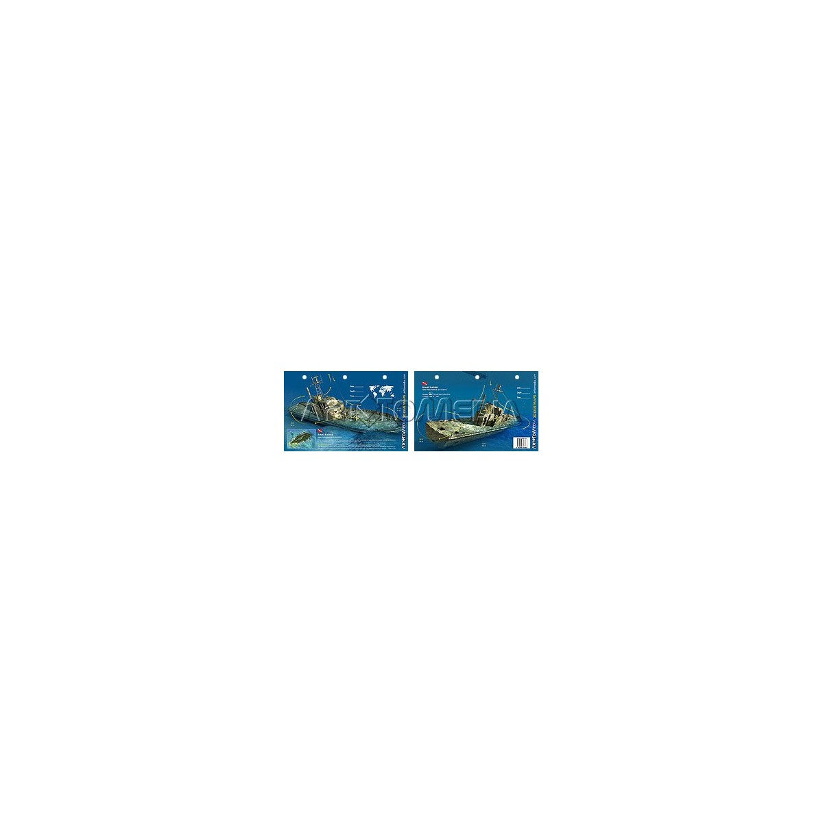 David Tucker in the Bahamas (8.5 x 5.5 Inches) (21.6 x 15cm) - New Art to Media Underwater Waterproof 3D Dive Site Map