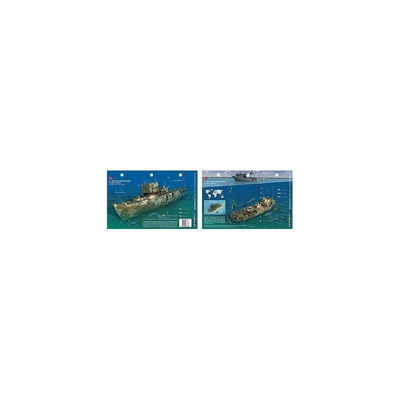 C-53 Felipe Xicotencatl in Cozumel (8.5 x 5.5 Inches) (21.6 x 15cm) - New Art to Media Underwater Waterproof 3D Dive Site Map