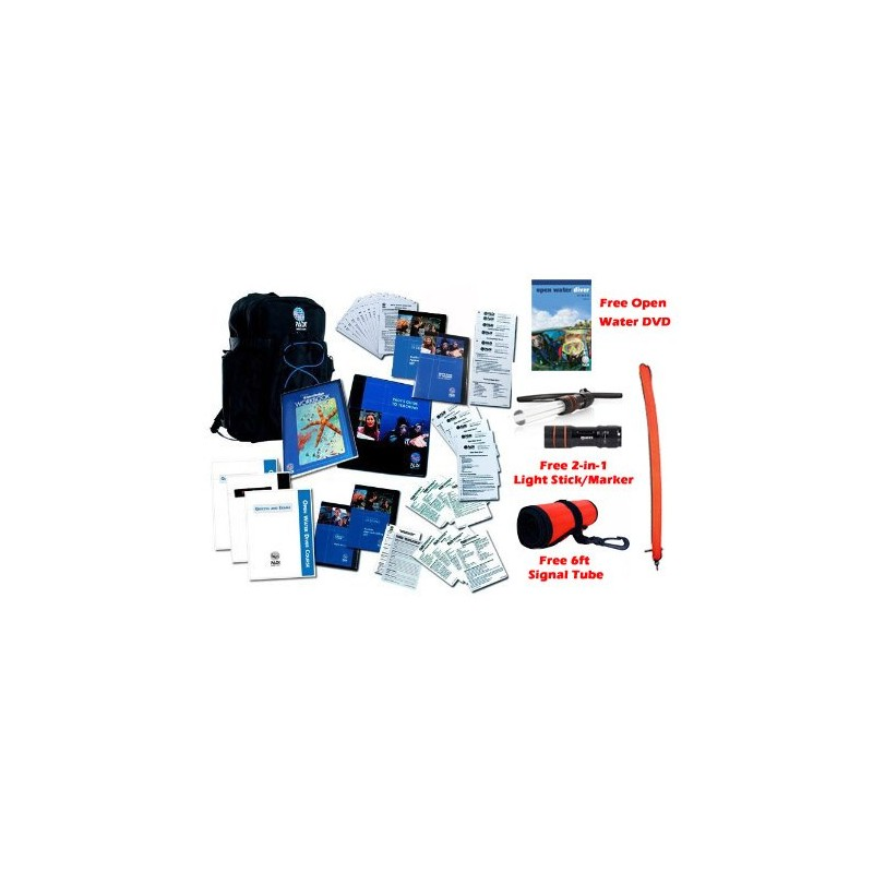 NEW 2014 UPDATED PADI IDC CREW PACK FOR INSTRUCTORS BOOKS TEACHING GUIDES WITH FREE OPEN WATER DVD, 2-IN-1 LIGHT STICK/TANK MARK