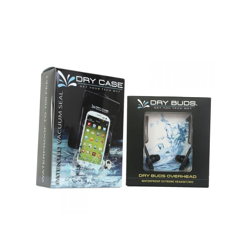 DryCASE DryCASE (DC-13) Waterproof Electronics Case & DryBUDS Overhead (DB-38) Waterproof Earbuds Combo
