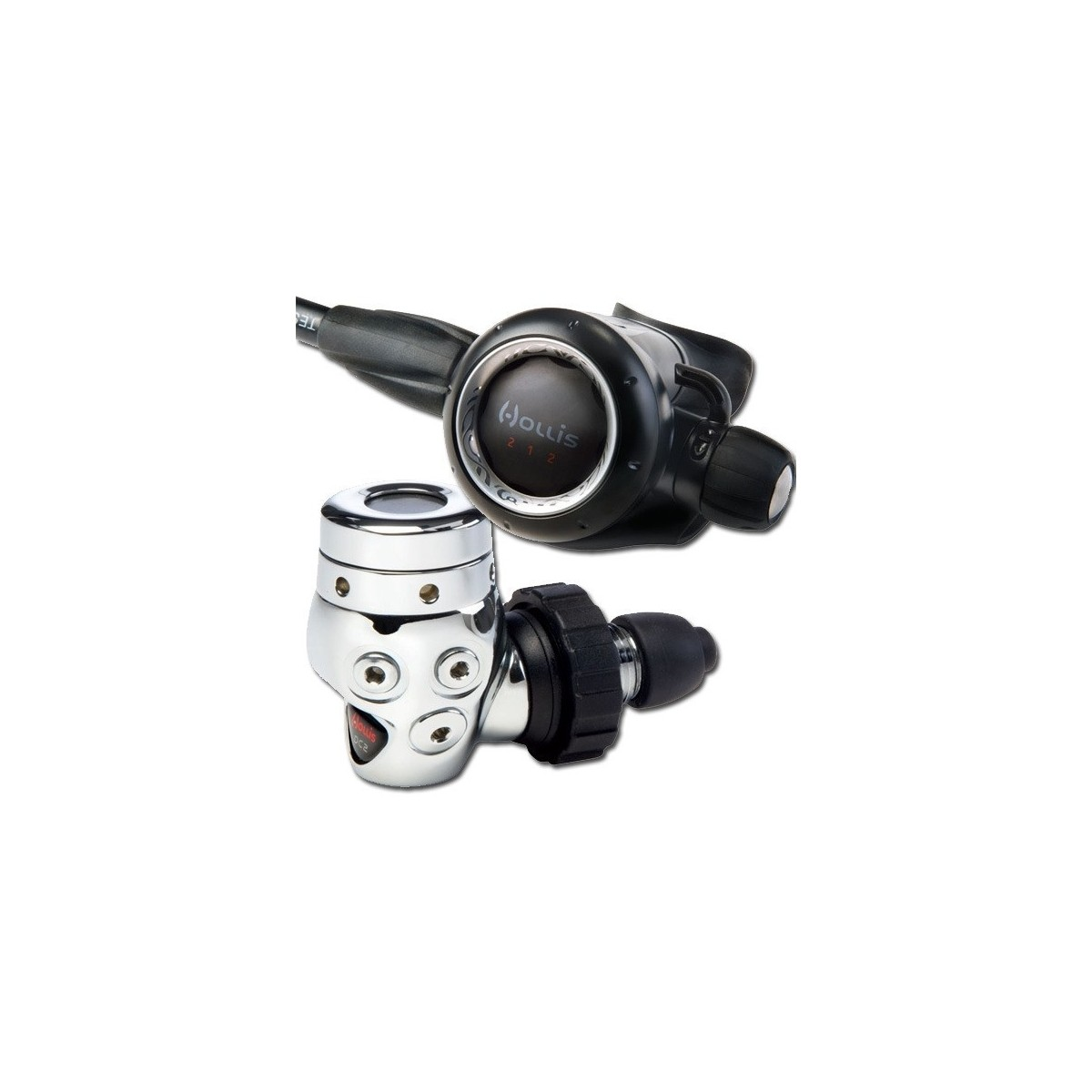 Hollis 212- DC2 DIN Scuba Regulator W/ Max Flex Hose