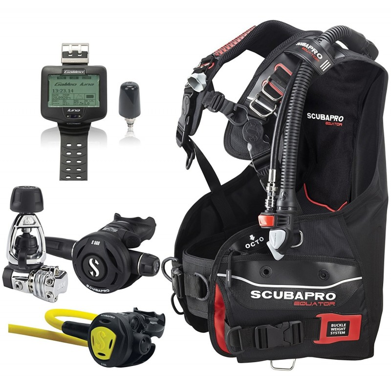 ScubaPro Equator BC, MK21/S560 Regulator, Galileo Dive Computer, Scuba Gear Package