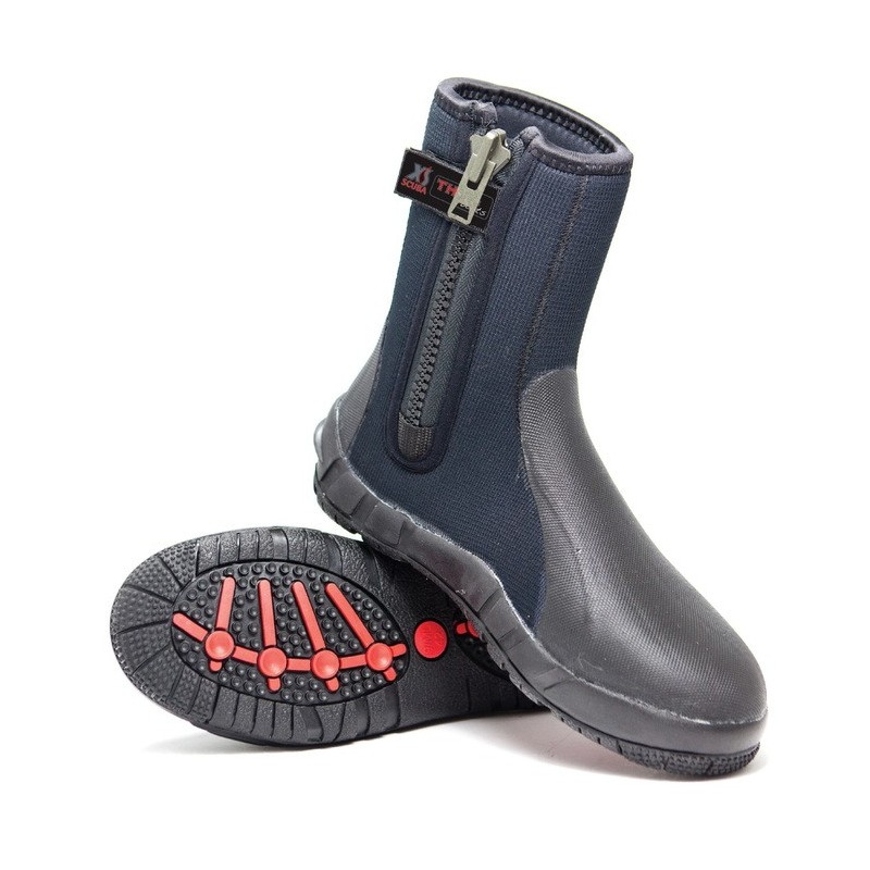 XS Scuba Thug Zipper Boots 8mm