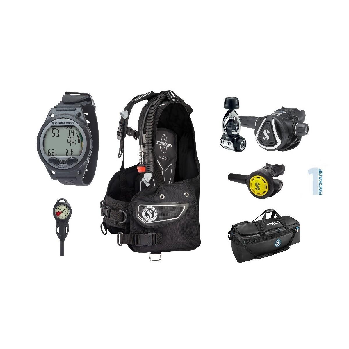 Scubapro Summer Package - Equalizer BCD, MK11/C350 Regulator, R095 Octo, Aladin ONE Dive Computer